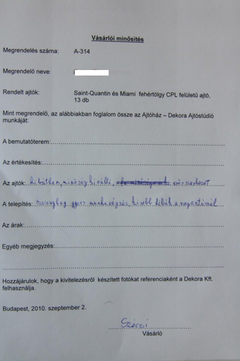 Referencia - Ajtóház